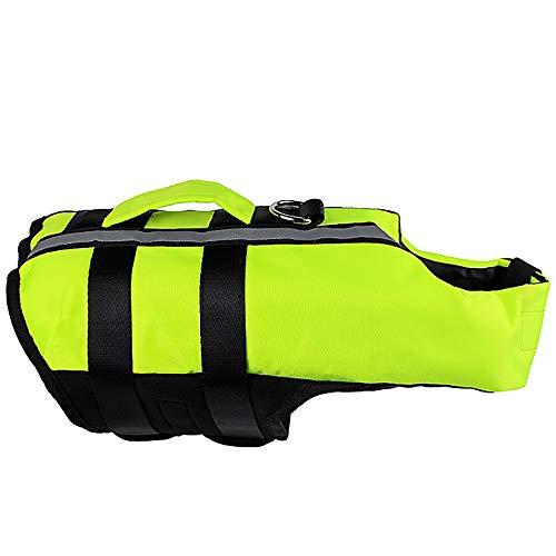 Pet Aufblasbaren Badeanzug, Pet Supplies Airbag Schwimmweste Aufblasbare Klapphund Outdoor Bequeme Sicherheit Badeanzug Small Medium Large Puppy Badeanzug,Green,M