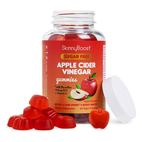 Sugar Free Apple Cider Vinegar Gummies, 750MG Plus Vitamin C! Weight Loss, Detox and Immune Support, Sugar Free, with The Mother, Non GMO, Made in The USA(60 Vegan Gummies)
