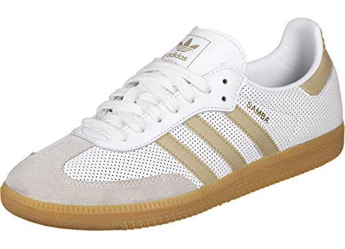 adidas Samba OG, Zapatillas de Deporte Interior Hombre, FTWR White Raw Gold S18 Grey One F17 Bd7544, 40 EU