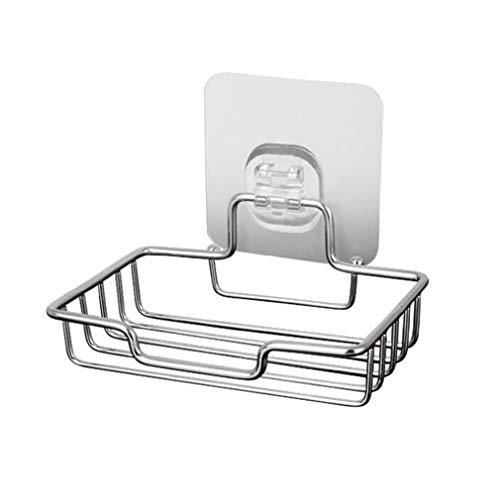 L_shop Seifenkiste aus Edelstahl Kleines kreatives Gestell Badezimmer Sanitäranhänger Multifunktionales selbstklebendes Entwässerungsgestell