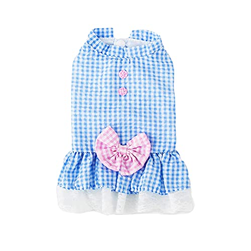 Dog Dresses for Small Dogs Girl Puppy Dress Pet Dress Sebaoyu - Dog Clothes Outfit Apparel Female Cute Cat Skirt Pup Tutu Pink Yorkie Clothing for French Bulldog Chihuahua (Large)