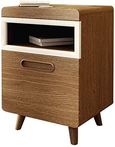 Mesita de noche mini provincial espacio almacenamiento gabinete de almacenamiento sofá armario lateral 61 x 38 x 42 cm mesa auxiliar