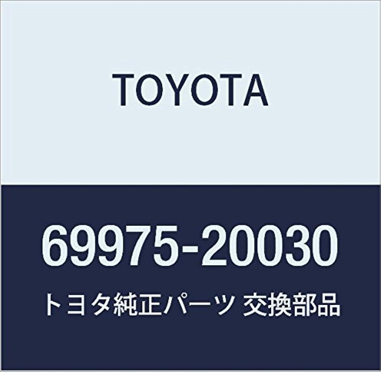 バッチ混沌リテラシーTOYOTA (トヨタ) 純正部品 リヤドアガラスチャンネル フィラ 品番69975-20030