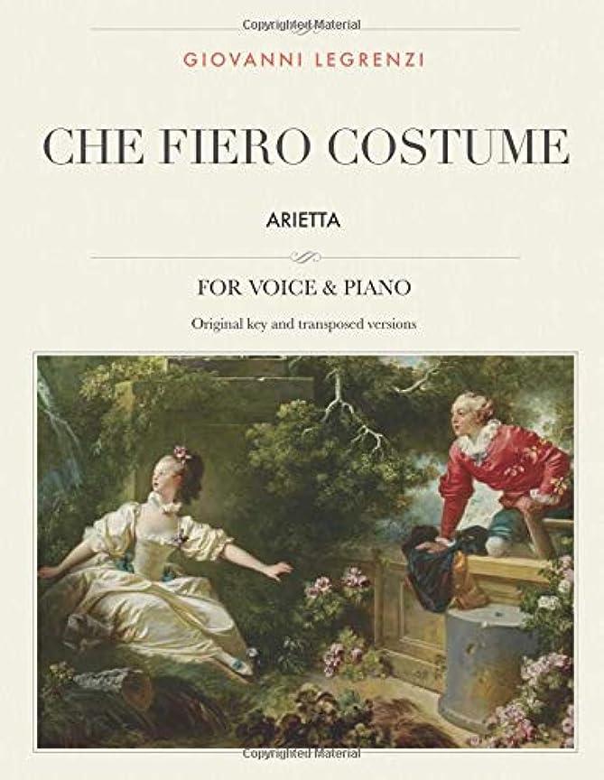 致命的なおとうさんラフChe fiero costume: Arietta, For Medium, High and Low Voices (The Singer's Resource)
