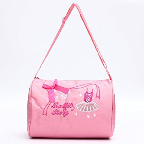 Bolso de hombro Kungfu Mall de lona con diseño de ballet, color rosa, para niñas y bebés