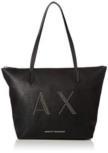 Armani Exchange Einkaufstasche, groß, Schwarz