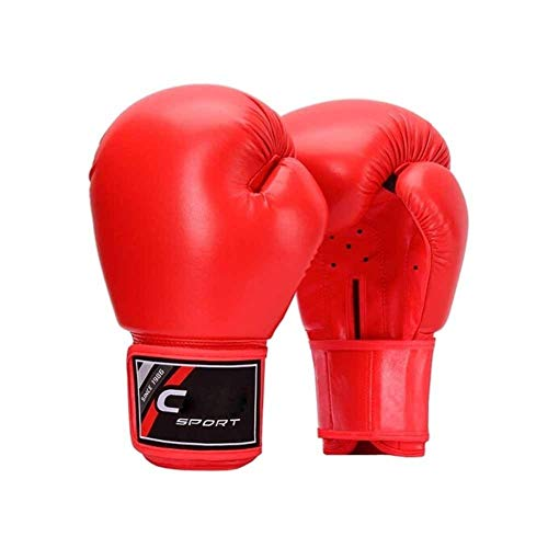 WENPINHUI Boxing Gloves, Men's and Women's Gloves Adult Training Competition Muay Thai Fighting Sanda Fighting Sandbags Professional Gloves - The Best Gift (Color : Red, Size : 16oz)