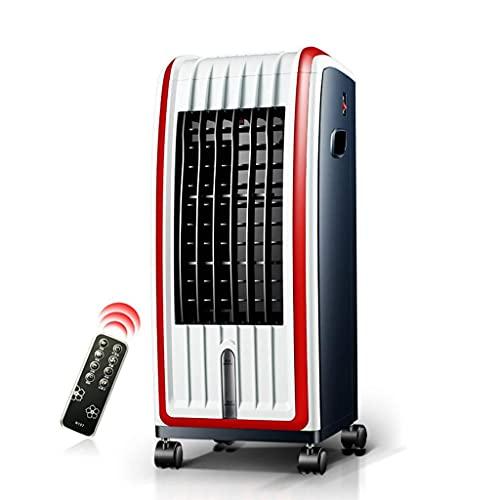 aire acondicionado, Enfriador de aire pequeño, aire acondicionado calefacción, rueda de freno portátil 3 velocidad del viento 3 ?? Clase de viento 6L Tanque de agua Limpieza de la humidificación 4 en