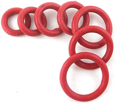 NO LOGO NJ-Spring 50pcs Rot Silikon-O-Ring-Dichtung Dichtung 4mm Dicke O-Ringe Seal OD 15mm-35mm VMQ Gute Elastizit/ät Oring Dichtungen Dichtung Unterlegscheiben Gr/ö/ße : 15x7x4mm