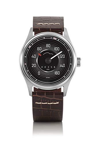 Bergmann Tachometer Uhr Porsche 356 Pre A Modell 1 Tacho braunes Kroko-Armband