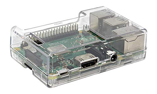 SB Components Raspberry Pi 3 Model B+ Transparent Case - Access to all ports