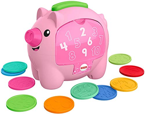 Fisher-Price Laugh & Learn Count & Rumble Piggy Bank (Renewed)