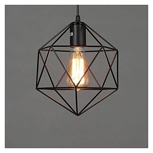 VIWIV Lámpara de Techo Lámpara Colgante LED Colgante de Hierro Creativo Moda Hierro Jaula de pájaros Candelabro Cafe Bar Sala de Estar Candelabro 21.5 * 25cm
