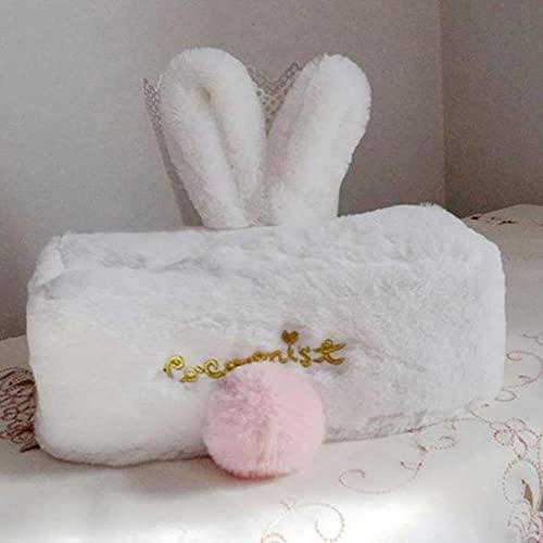 Modis Scatola di fazzoletti di Peluche a Forma di Coniglio Carino per la casa Soggiorno Porta Carta per Auto Tovagliolo Kawaii