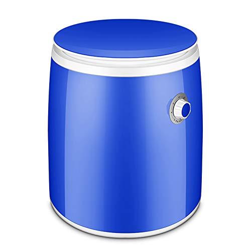 PIGE Mini-Lavadora monocilíndrico con deshidratación Seca Bebé niño pequeño Dormitorio semiautomático Micro-Lavadora doméstica Capacidad 1KG Apto para habitación Balcón Baño (Color : Azul)