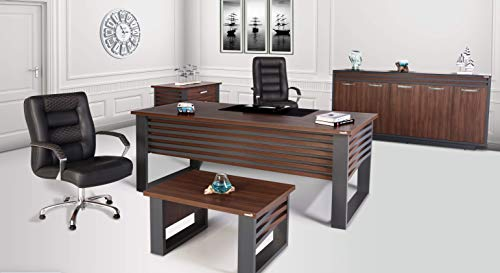 Elite Büromöbel Komplett Set, 4-teilig, Arbeitszimmer, Kirschholz/Anthrazit, in diversen Farbenvariationen und Maßen erhältlich, W 200 x D 90 x H 75