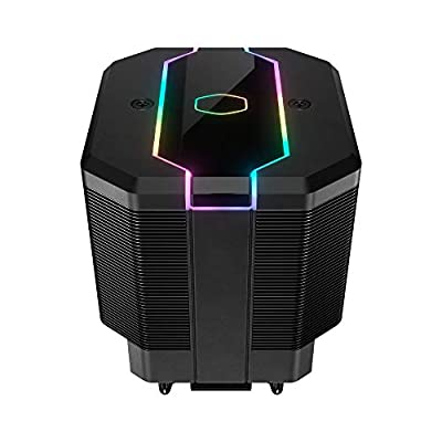 Cooler Master MasterAir MA620M CPU Cooling System - ARGB Dual Tower Heatsink, 6 Heat Pipes with Quiet SF120R Fan – 5 Year Warranty