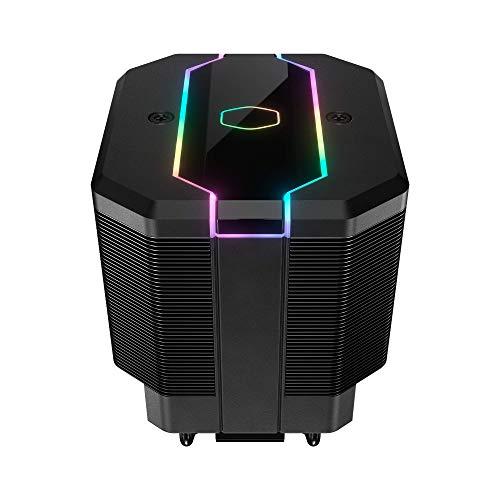 Cooler Master MasterAir MA620M - Sistema di raffreddamento CPU ARGB Dual Tower dissipatore di calore, 6 tubi di calore con ventola SF120R silenziosa