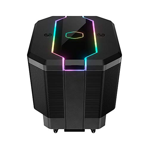 Cooler Master MasterAir MA620M Dual Tower ARGB High Performance CPU Air Cooler, 6 CDC 2.0 Heatpipes, SF120R Fan, Hexagon Strip Addressable RGB Lighting for AMD Ryzen/Intel LGA1200/1151