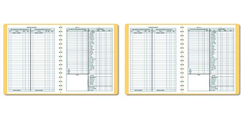 Dome 612 Bookkeeping Record, Tan Vinyl Cover, 128 Pages, 8 1/2 x 11 Pages — Pack of 2