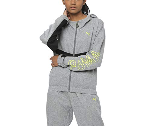 PUMA Hit Feel It Sweat Veste de survêtement Femme Medium Gray Heather FR : XL (Taille Fabricant : XL)