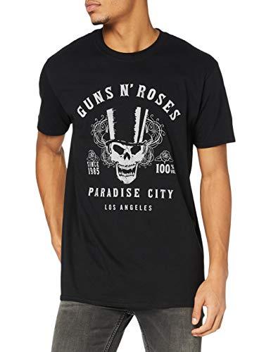 Guns & Roses Guns N' Roses 100% Volume Camiseta, Negro, M para Hombre