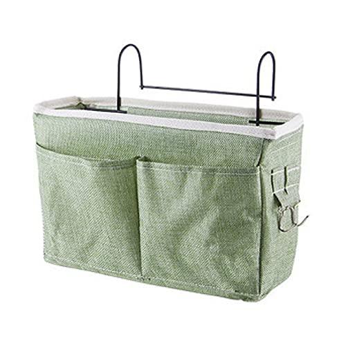 XPT Bolsa de almacenamiento colgante de gran capacidad, cinta de tela, gabinete de mesa, mesita de noche, para decoración de la puerta del dormitorio, color verde