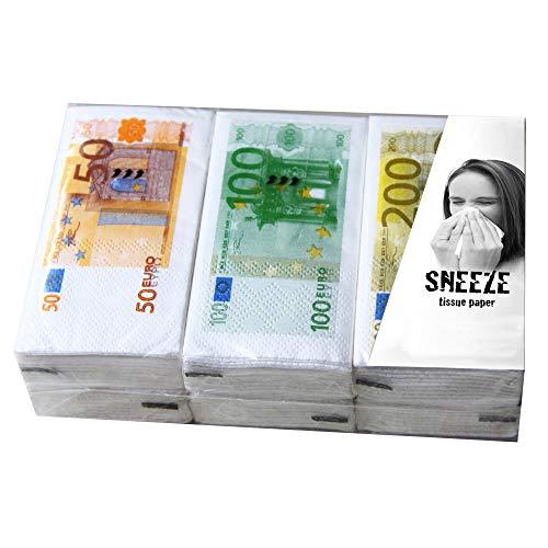 Preis am Stiel - Pañuelos de papel con diseño de billetes, ideal como regalo para mujeres y hombres