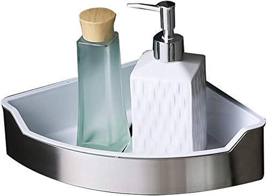 一般的に言えばオートもっともらしいバスルーム棚304ステンレス鋼の浴室の棚、シングルティア壁掛け浴室三角コーナーラック、220ミリメートル* 220ミリメートル* 65ミリメートル