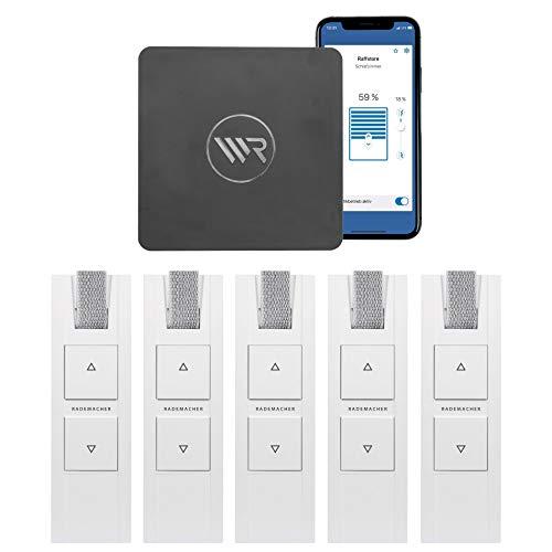 RADEMACHER Rolladen Gurtwickler Set mit Zentrale Homepilot 2. Smart Home Rolladensteuerung für 5 Rolläden mit gratis App und Fernzugriff. Alexa kompatibel.
