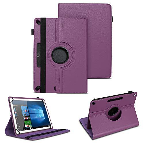 Tablet Tasche kompatibel für Archos 101f 101e Neon 101b Oxygen Schutzhülle hochwertiges Kunstleder Hülle Standfunktion 360° Drehbar 10.1 Zoll Universal Hülle, Farben:Lila