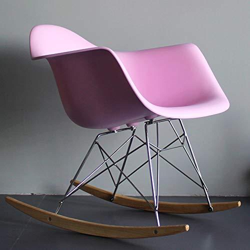 Fly Klapphocker C-K-P Lounge Sessel, nordischen Stil Schaukelstuhl nach Hause Balkon Lounge Sessel faul Couch Sessel Designer Stuhl Lounge Sessel weiß Lazy Chair (Farbe : Pink)