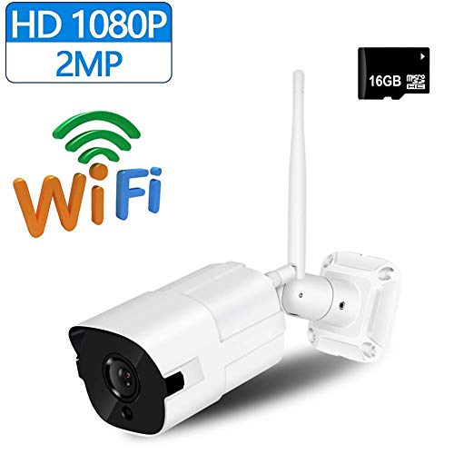 Fbestbody 1080P Wireless Outdoor-Überwachungskamera, 2-Megapixel-Full-HD-WLAN Kamera,IP66-Metallgehäuse,Nachtsicht Funktion,iPhone/Android Allgemeine Gerät kompatibel, PL08