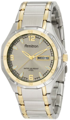 ARMITRON CRISSAL 37- Mid Size Watch 20/4309GYTT- The perfect watch for any business man. Never be late for another meeting with this two-tone watch.