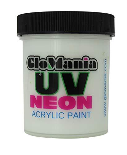 White UV Black Light 4oz, Neon, Rave, Fluorescent, Acrylic Paint