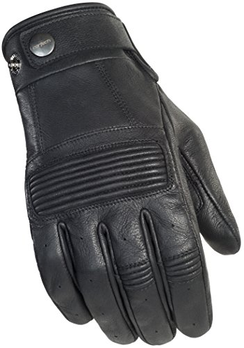 Cortech Men's Duster Leather Motorcycle Gloves (Black, XXX-Large)