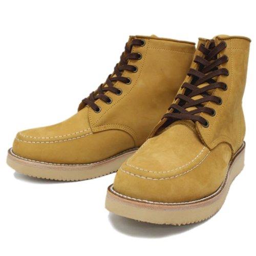 [ピストレロ] 110-05 6inch MOC TOE BOOTS(モックトゥブーツ) イエローヌバック PL074 US10(約28cm)