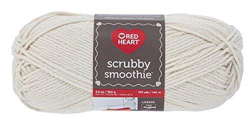 Red Heart Scrubby Smoothie, Loofa Yarn