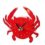 VORCOOL Cute Cartoon Crab Shape Wall Clock Creative 3D Refrigerator Magnetic Sticker Home Decoration Gift