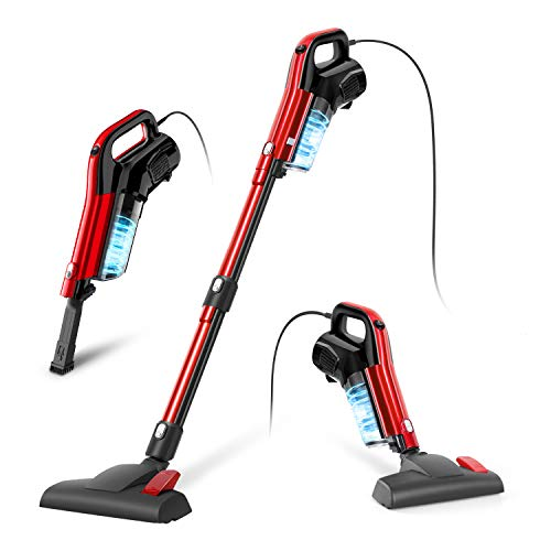 Vacuum Cleaner, 4 in 1 Corded Stick Vacuum 17000pa Powerful Suction, with HEPA Filter 1.2L Large-Capacity Dust Cup Lightweight Vacuum for Home Hard Floor Pet Hair - GeeMo H594