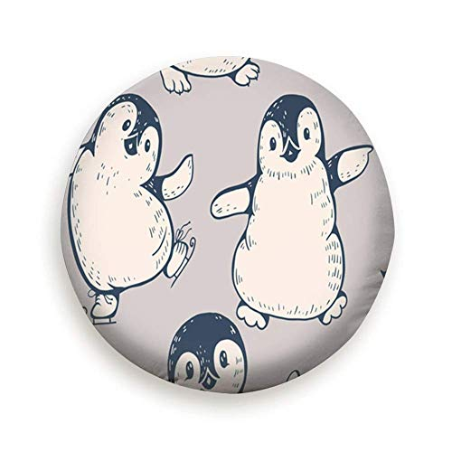 Sunwd Ersatzradabdeckungen, Monochrome Cute Penguins Handdrawn Animals Penguin Spare Wheel Tire Cover