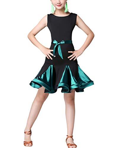 SPDYCESS Lateinkleid Tanz Kleider Mode Dancewear - Rumba Tango Salsa Performance Kleidung Ballsaal Kostüm Party Karneval Prinzessin Rock Kleid Dress