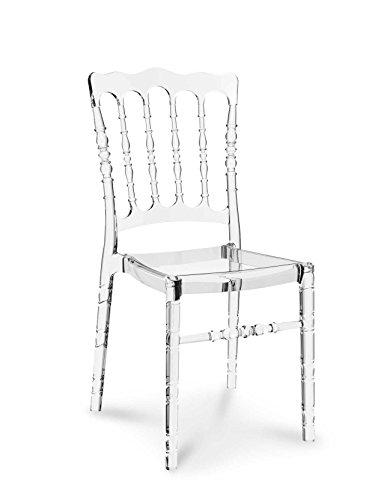 NEUERRAUM Plexiglas Acryl Ghost Chair Vintage Hochzeit Stuhl Transparent Durchsichtig. Abbildung in Transparent klar (Keine China Ware = Qualität glasklar).
