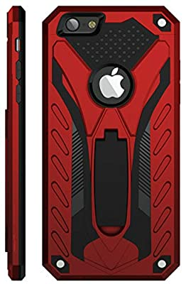 Kitoo Designed for iPhone 6 Case/Designed for iPhone 6S Case with Kickstand, Military Grade 12ft. Drop Tested - Red