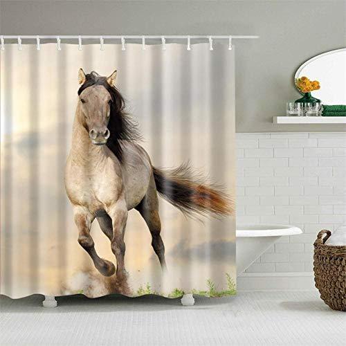 Retro West Cowboylaarzen Hoed Paarden Douchegordijnen Waterdicht Stof Polyester Badscherm Woondecoratie, 22974,180 * 180 Cm