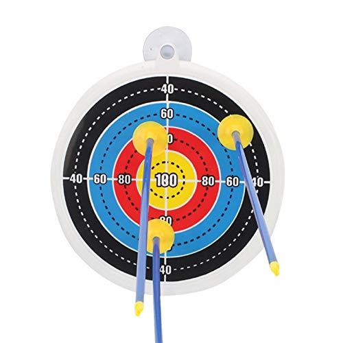 haohaiyo Zielscheibe Bunt,hochwertige Zielscheibe Aus Holz, 24 cm Durchmesser,Hängendes Kunststoff-Saugnapf-Innenziel, Ideal Für Pfeile Mit Saugnapf