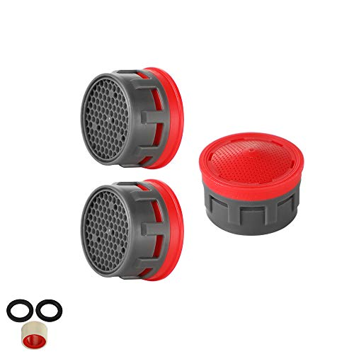 JQK Faucet Areator, 2.2 GPM Flow Retrictor Insert Faucet Aerators Replacement Parts Bathroom 3 Pack, FAN22-P3