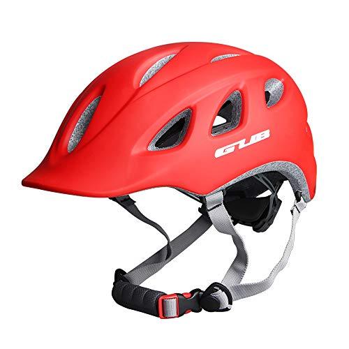 LYY City Bike Helmet Erwachsene Männer und Frauen Reiten Helme Integrierte Molding Mountain Road Hut,Red