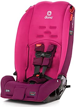 Diono Radian 3R 3-in-1 Convertible Rear and Forward Facing Convertible Car Seat High-Back Booster 10 Years 1 Car Seat Slim Design - Fits 3 Across Pink Blossom