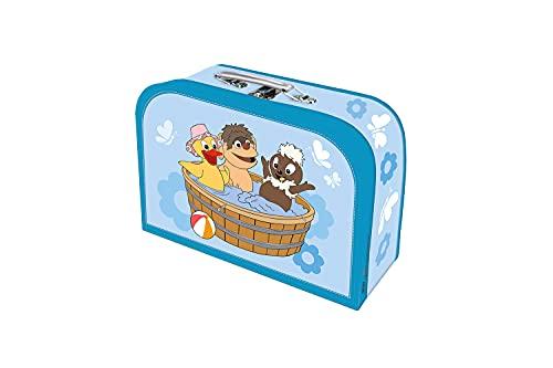 Trötsch Kinderkoffer Pittiplatsch Wanne groß,Pappkoffer, Koffer aus Pappe, Geschenk Verpackung, Gutschein Verpackung,Spielkoffer, Metallgriff und Metallhenkel, Reisekoffer Kinder